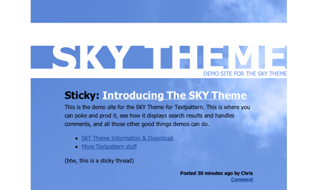 Screenshot of SKY Theme