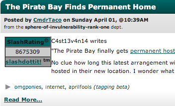 slashdot tagging