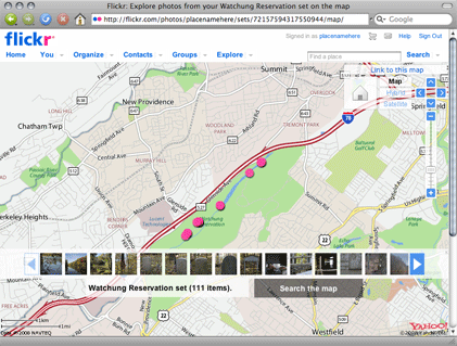Flickr maps screenshot